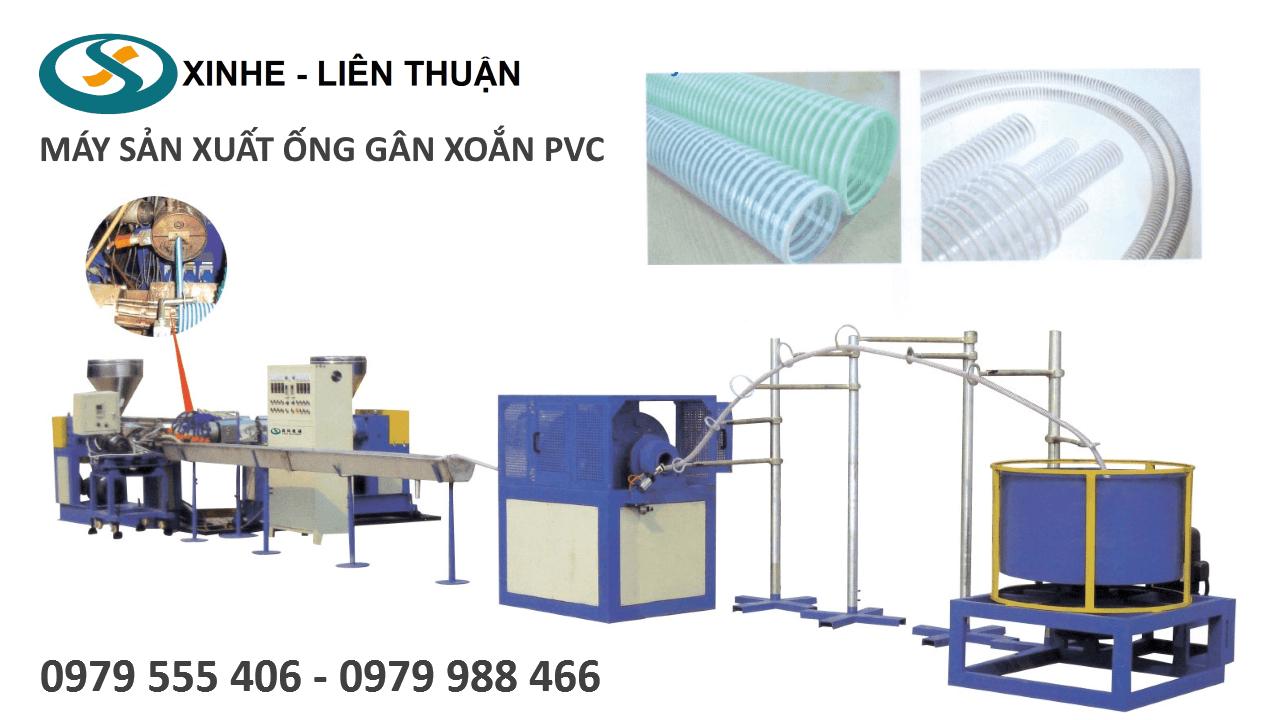 Máy sản xuất ống gân xoắn PVC