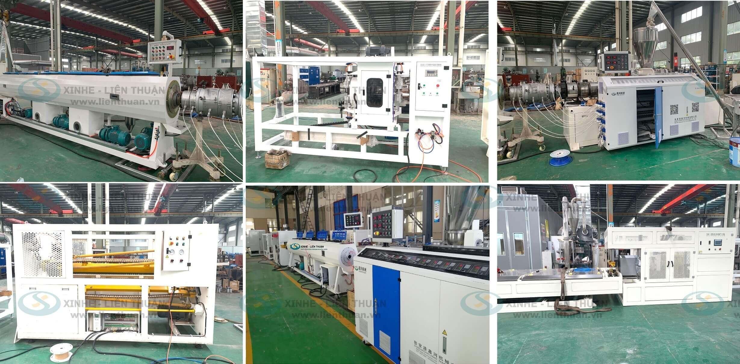 máy sản xuất ống nhựa pvc gia công lắp đặt tại cơ khí Liên Thuận