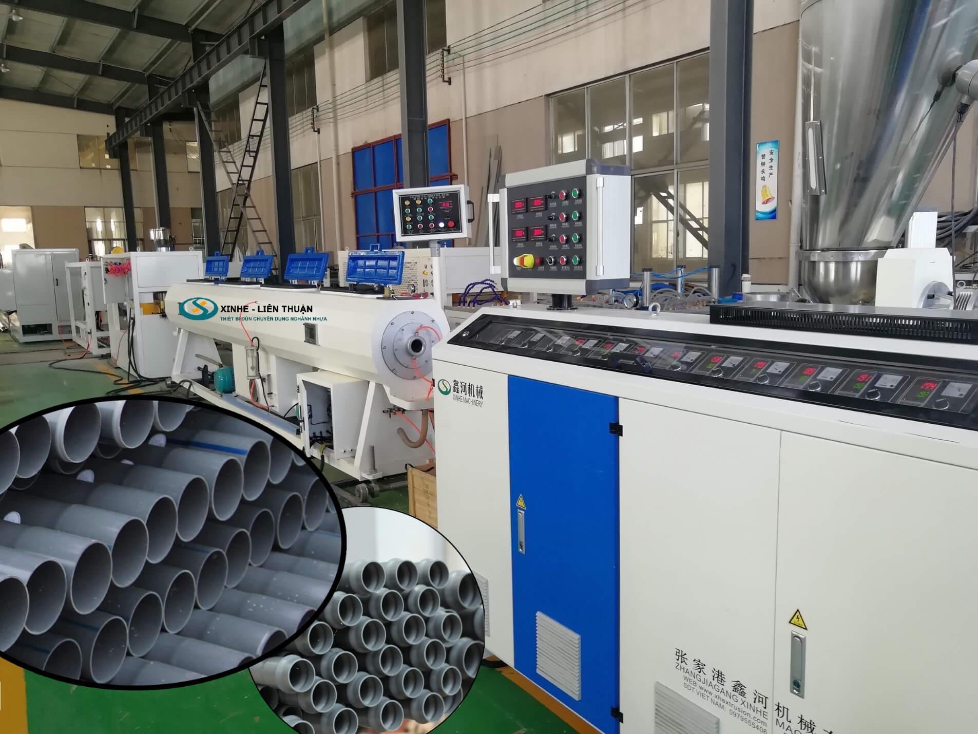 nguyên lý hoạt động máy sản xuất ống nhựa pvc