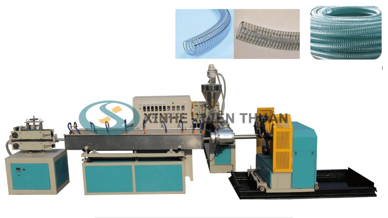 máy sản xuất ống nhựa mềm lõi thép