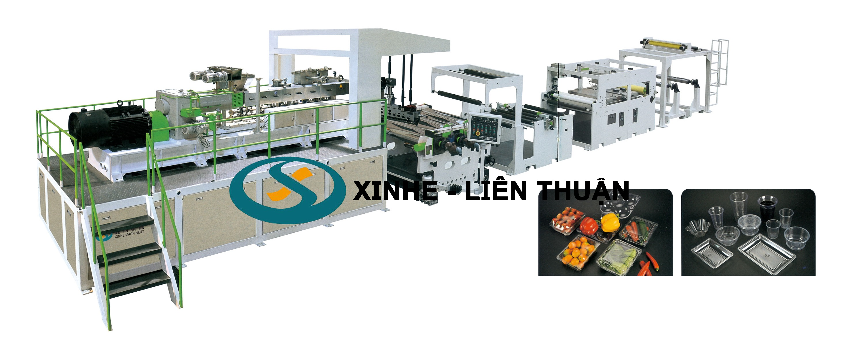 Twin Screw Dryer-free Vented PET Sheet Extrusion Line