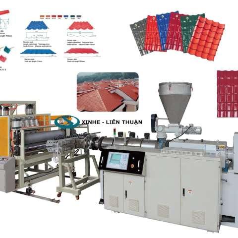 PVC+ ASA/PMMA Glaze Roof Tile Production Line