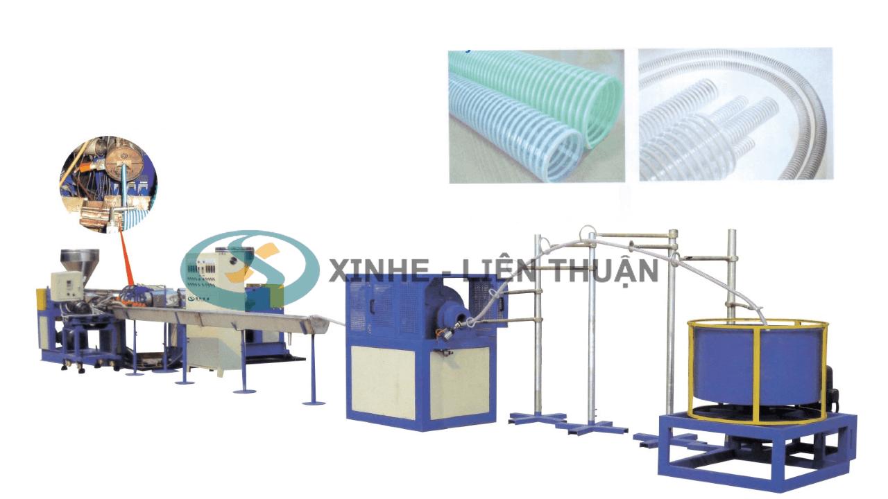 máy sản xuất ống gân xoắn