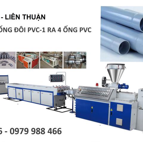 máy sản xuất ống đôi pvc