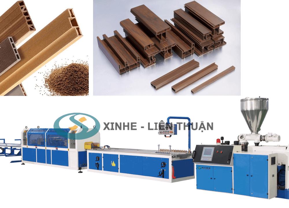 máy sản xuất proflle gỗ nhựa