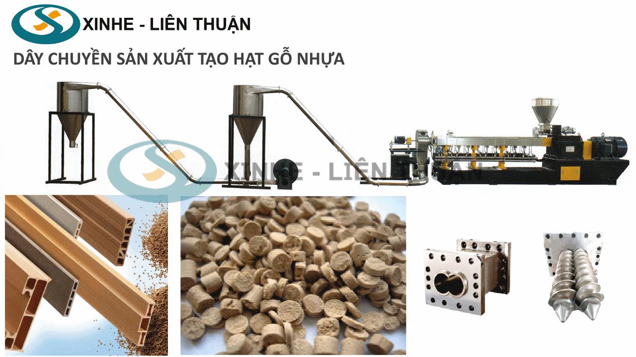 máy tạo hạt gỗ nhựa wpc