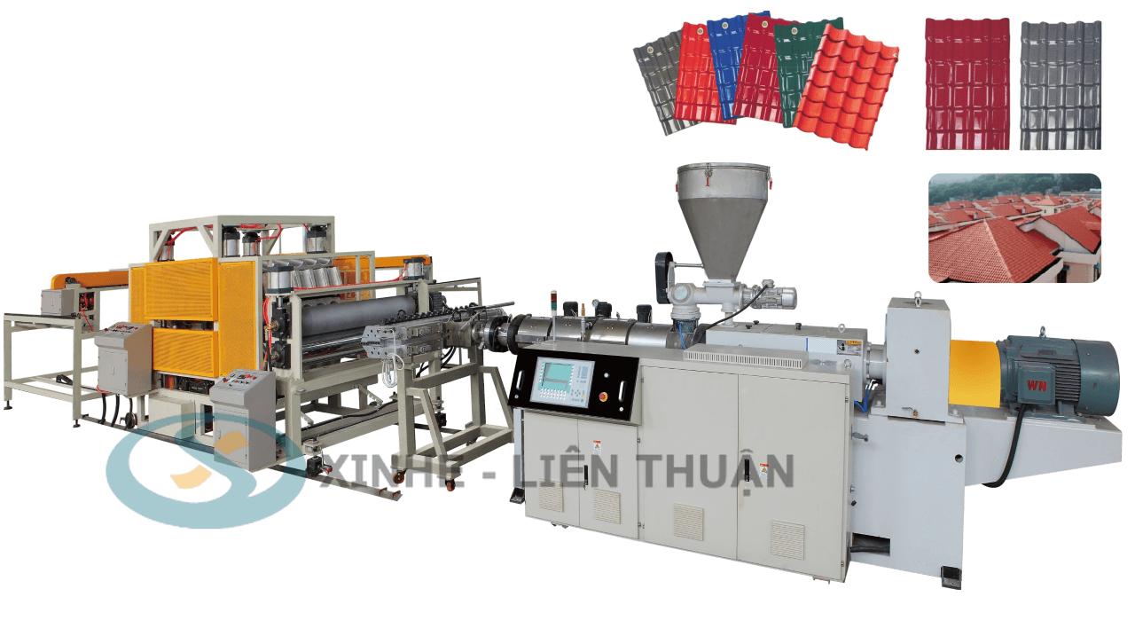 máy sản xuất ngói nhựa