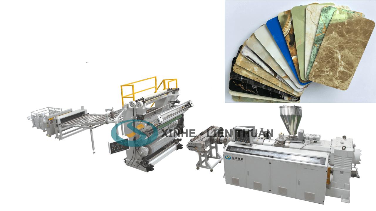 máy sản xuất tấm nhựa giả đá