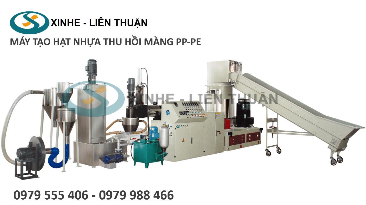 máy tạo hạt nhựa thu hồi màng pp pe