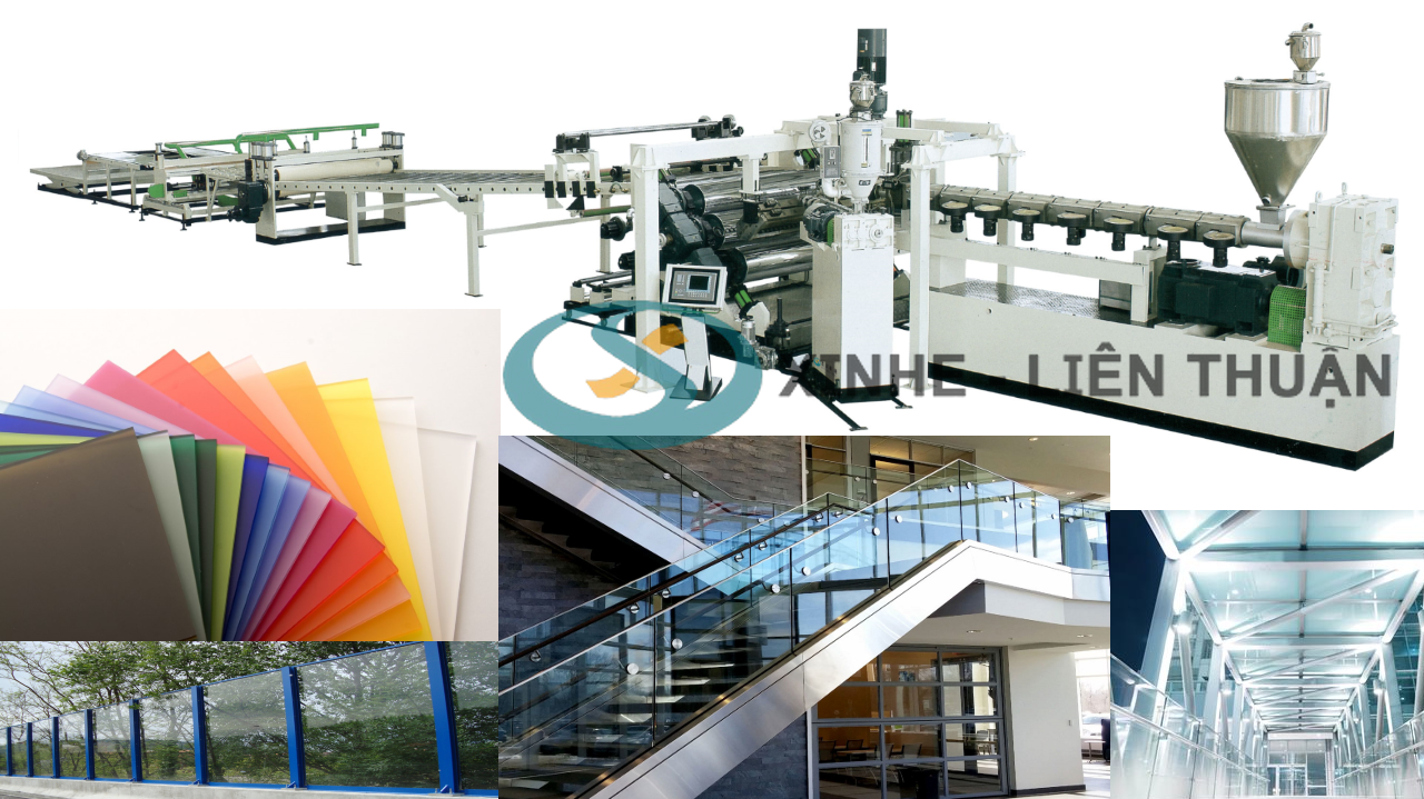 máy sản xuất tấm nhựa pmma