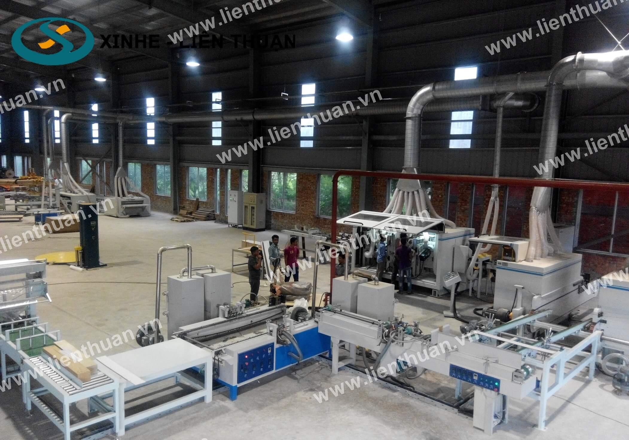 Hệ thống sản xuất tấm sàn nhựa SPC - sơ đồ lắp đặt
